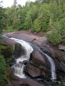 Rainbow Falls on Michigan's Black River Scenic Byway